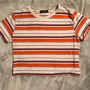 Brandy Melville Striped Crop Top